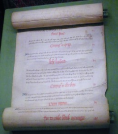 A Medieval cookery scroll